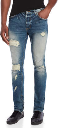 Hudson Killz Vaughn Skinny Ankle Zip Jeans