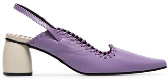 Reike Nen purple 60 slingback leather pumps
