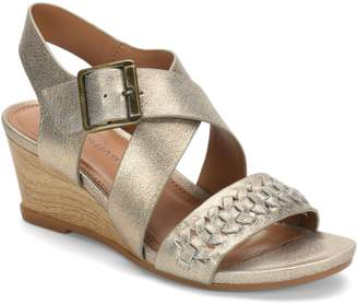 3423edb127a5 Comfortiva Leather Wedge Sandals - Simone