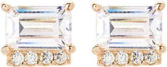 Crislu 18K Gold Sterling Silver Stud Earrings