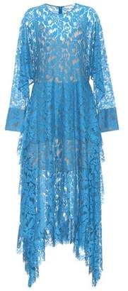 Cotton-blend lace midi dress