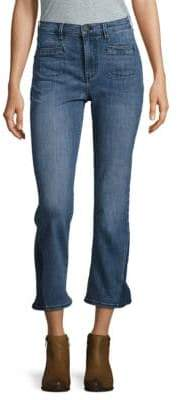 Buffalo David Bitton High Rise Cropped Flare Jeans