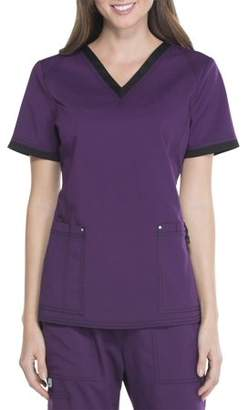 Scrubstar Premium Collection Women's Stretch Rayon Scrub Top with Mesh Contrast