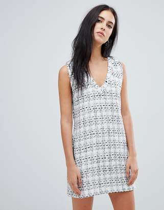 Religion grove tweed shift dress