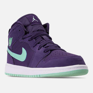 Nike Girls' Little Kids' Air Jordan 1 Mid Basketball Shoes