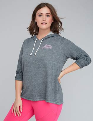 Lane Bryant I Am Strong Graphic Active Hoodie