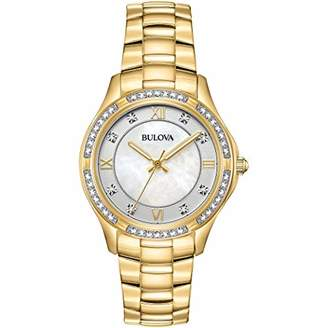 Bulova Womens Analogue Classic Quartz Watch with Stainless Steel Strap 98L256