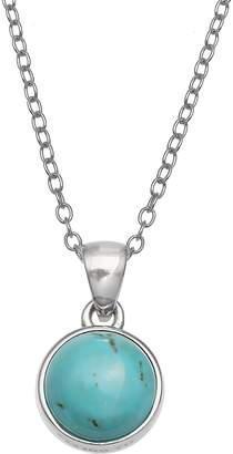 Primrose PRIMROSE Sterling Silver Gemstone Pendant Necklace
