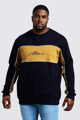 Big & Tall Colour Block MAN Signature Sweater