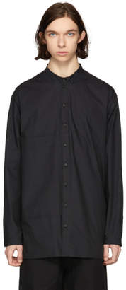 Isabel Benenato Black Poplin Big Pocket Shirt