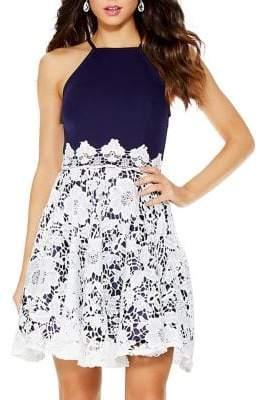 Quiz Lace Skater Dress