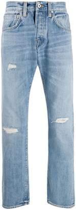 Edwin ripped straight leg jeans