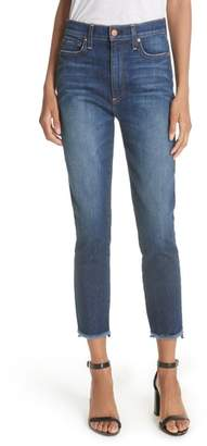Alice + Olivia Good Stagger Hem High Waist Skinny Jeans