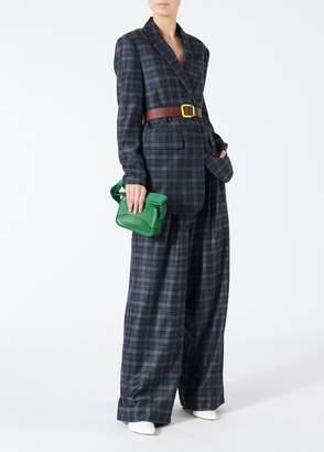 Tibi Ghery Plaid Oversized Asymmetrical Blazer