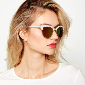 Red Herring White And Gold Cat Eye Sunglasses