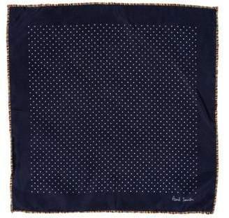 Paul Smith Polka Dot Print Silk Pocket Square