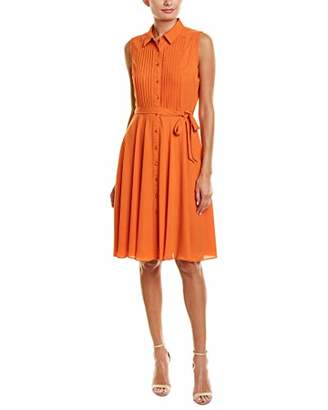 Nanette Lepore Nanette Women's Slvls Pintuck Bttn Frt Midi Dress