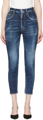 Dsquared2 Blue Twiggy Jeans $640 thestylecure.com