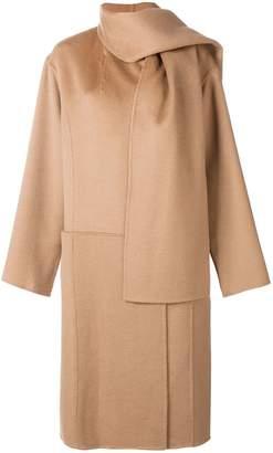 Paule Ka shawl detail oversized coat