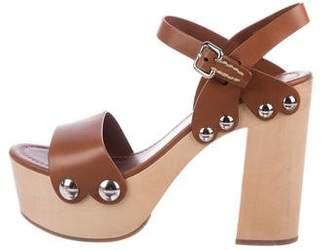 Prada Studded Platform Sandals