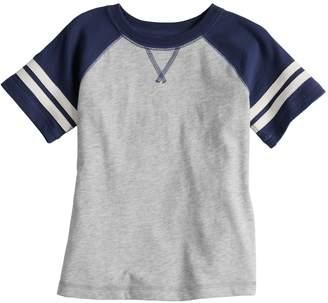 Toddler Boy Jumping Beans Short Sleeve Striped Raglan Tee