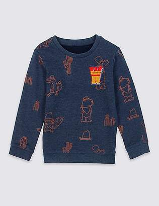 Marks and Spencer Cotton Rich Sweatshirt (3 Months - 7 Years)