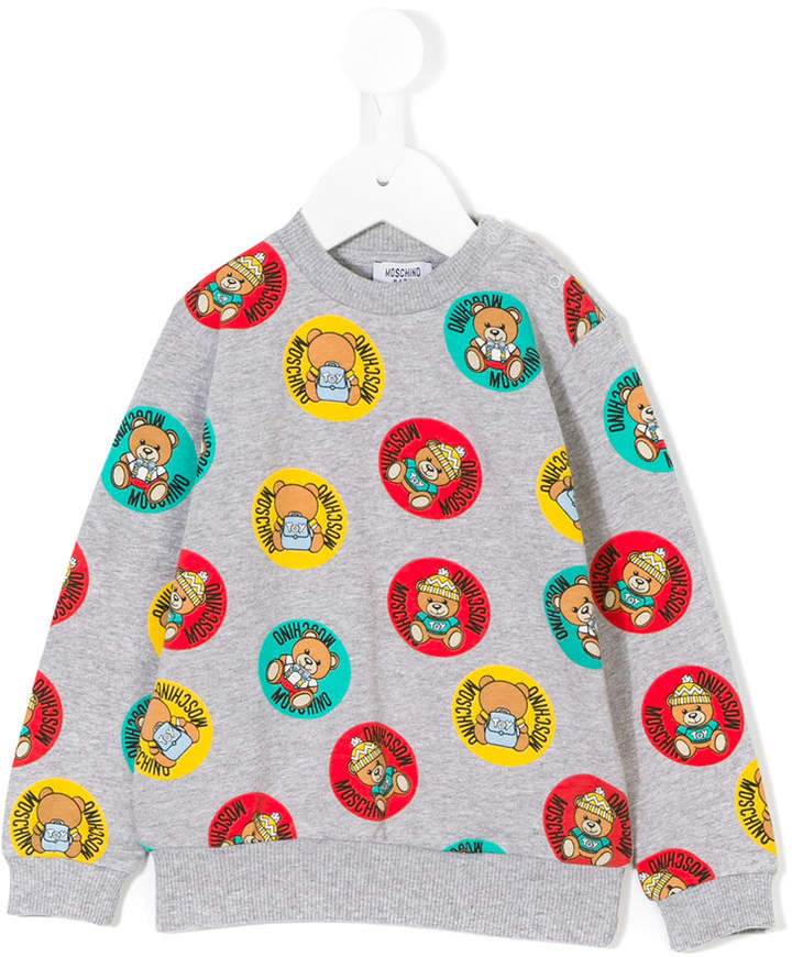 Moschino Kids teddy bear patch print sweatshirt