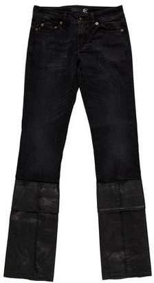 Just Cavalli Wax Coated Straight-Leg Jeans