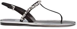 Prada embellished slingback sandals