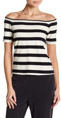 Splendid Striped Off-the-Shoulder Tee