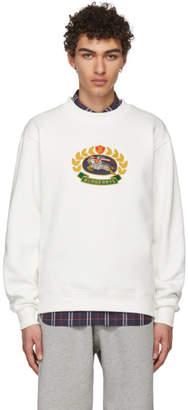 Burberry Off-White Crest Sweatshirt