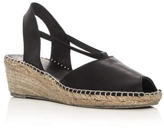 Andre Assous Women's Dainty Leather Slingback Espadrille Sandals