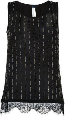 Twin-Set lace hem tank top $94.36 thestylecure.com
