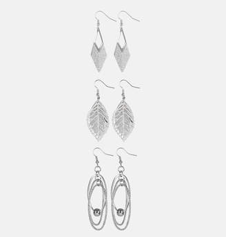 Avenue Silver Multi Drop Earrings
