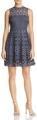 AQUA Lace Fit-and-Flare Dress - 100% Exclusive $98 thestylecure.com