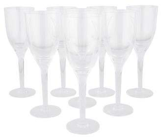 Lalique Set of 8 Ange Champagne Flutes