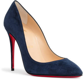 Christian Louboutin Eloise 100 Dark Blue Suede Pumps
