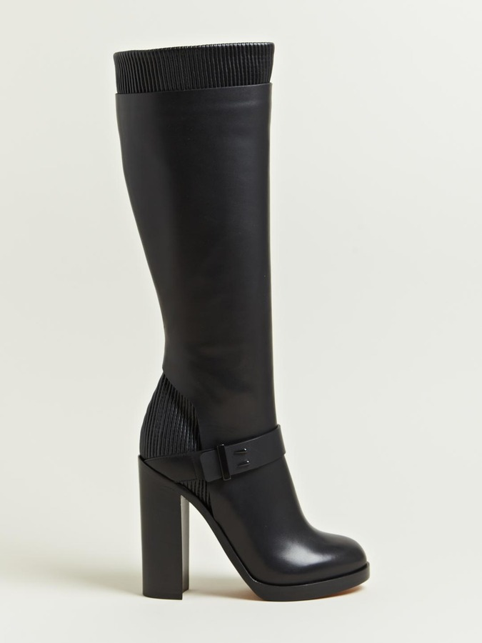 Givenchy Women's Calf Leather Heeled Long Boots