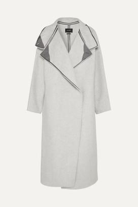 Isabel Marant Relton Oversized Brushed Wool-blend Coat - Light gray