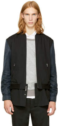 3.1 Phillip Lim Black Classic Shirt Bomber Jacket