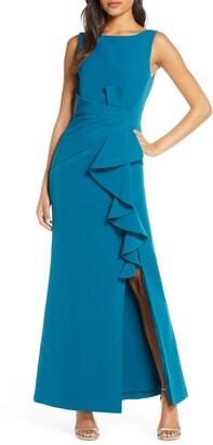 Eliza J Ruffle Detail Gown
