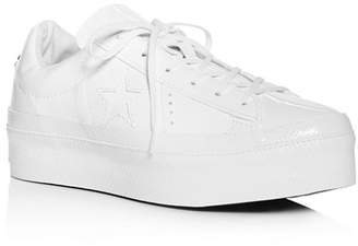 Converse One Star Lace-Up Platform Sneakers