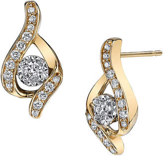 Sirena 1/3 CT. T.W. Diamond 14K Yellow Gold Earrings