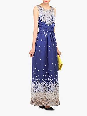 2f36569e225e at John Lewis and Partners · Jolie Moi Floral Print Belted Maxi Dress,  Royal Blue