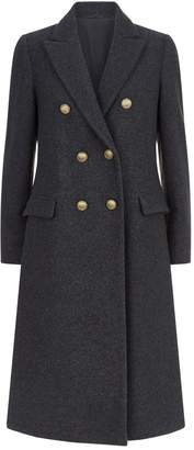 Brunello Cucinelli Double-Breasted Cashmere Coat