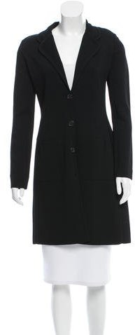 prada Prada Stretch Knit Fitted Coat