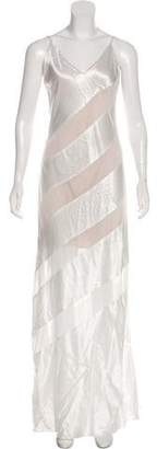 Alice + Olivia Sheer-Accented Slip Gown