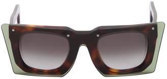 Square Layered Acetate Sunglasses