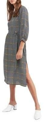 Miss Selfridge Checkered D-Ring Midi Dress