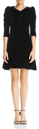 Rebecca Taylor Ruched Velvet Dress